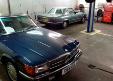 Two Merc Classic Cars